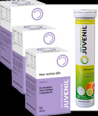 Juvenil (zestaw nukleotydów, peptydów, aminokwasów) z dodatkiem magnezu i witaminy B6